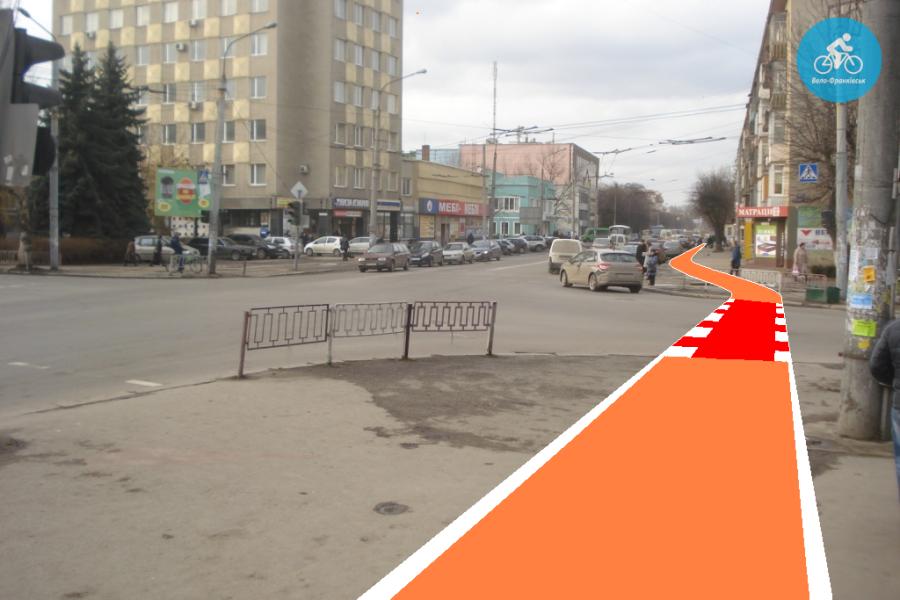 Іванофранківцям показали як можуть виглядати велодоріжки на Галицькій (фото) - фото 66
