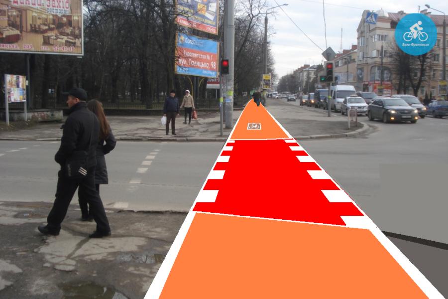 Іванофранківцям показали як можуть виглядати велодоріжки на Галицькій (фото) - фото 69