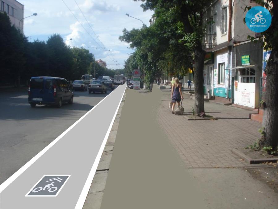 Іванофранківцям показали як можуть виглядати велодоріжки на Галицькій (фото) - фото 73