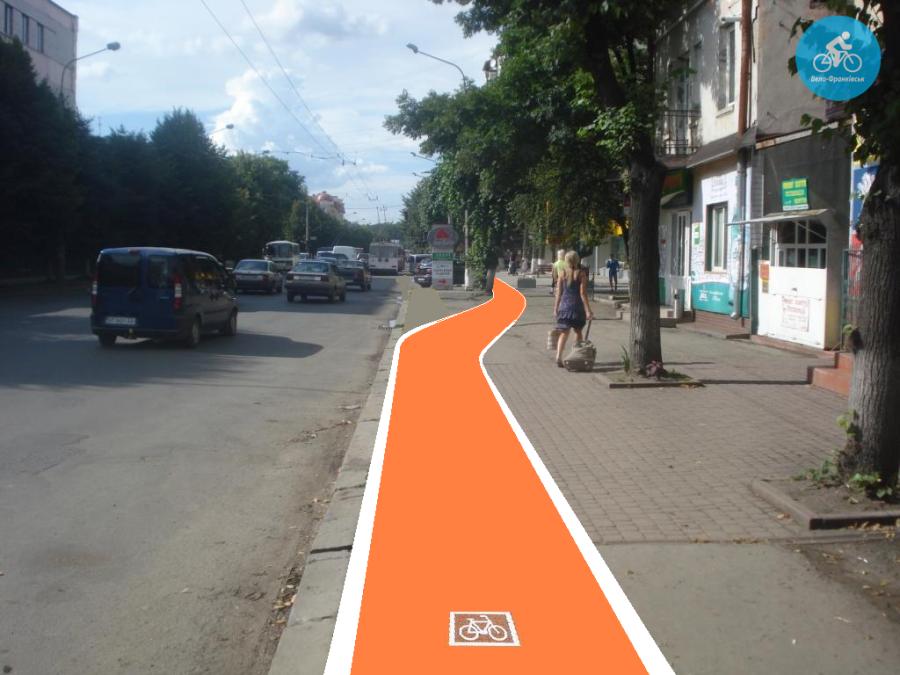 Іванофранківцям показали як можуть виглядати велодоріжки на Галицькій (фото) - фото 76