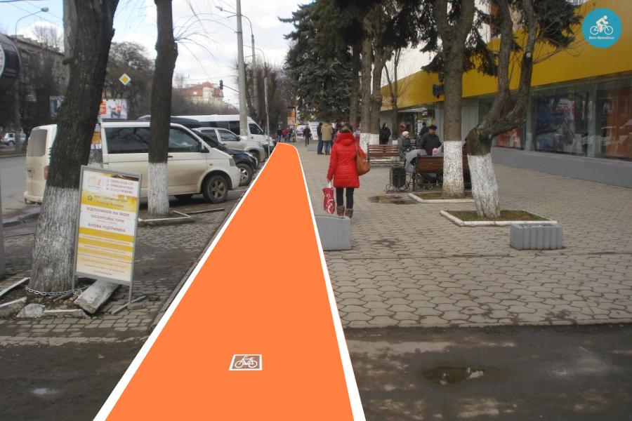 Іванофранківцям показали як можуть виглядати велодоріжки на Галицькій (фото) - фото 77