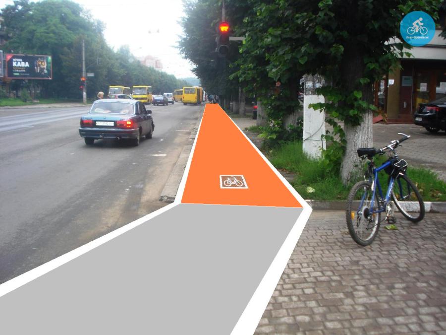 Іванофранківцям показали як можуть виглядати велодоріжки на Галицькій (фото) - фото 75