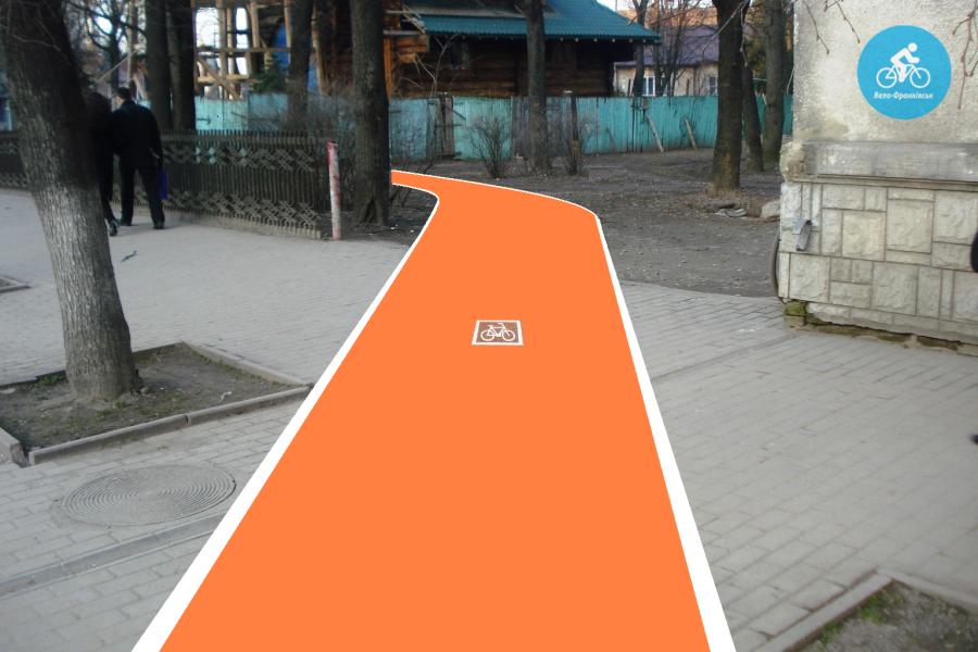 Іванофранківцям показали як можуть виглядати велодоріжки на Галицькій (фото) - фото 80