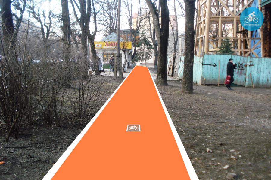 Іванофранківцям показали як можуть виглядати велодоріжки на Галицькій (фото) - фото 81