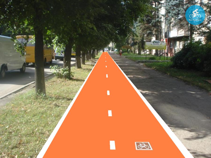Іванофранківцям показали як можуть виглядати велодоріжки на Галицькій (фото) - фото 87