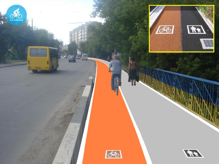 Іванофранківцям показали як можуть виглядати велодоріжки на Галицькій (фото) - фото 89