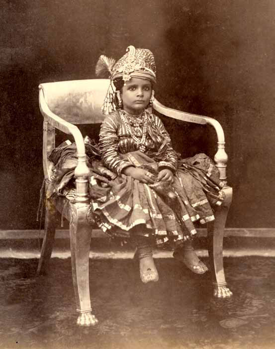 Three Unindentified Young Princes of India - circa 1890 b