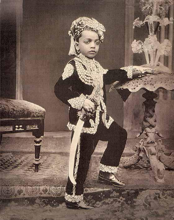 Three Unindentified Young Princes of India - circa 1890 c