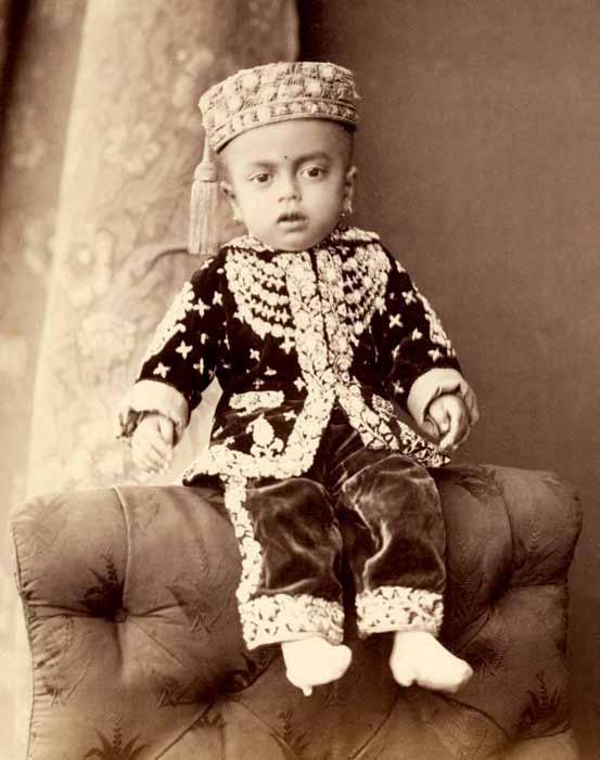 Three Unindentified Young Princes of India - circa 1890