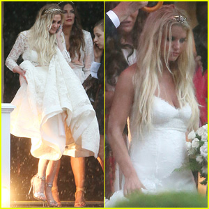 Ashlee simpsons wedding dress revealed oh no they didnt junglespirit Images