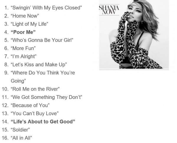 Now Track Listing