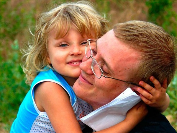 папа и дочь.