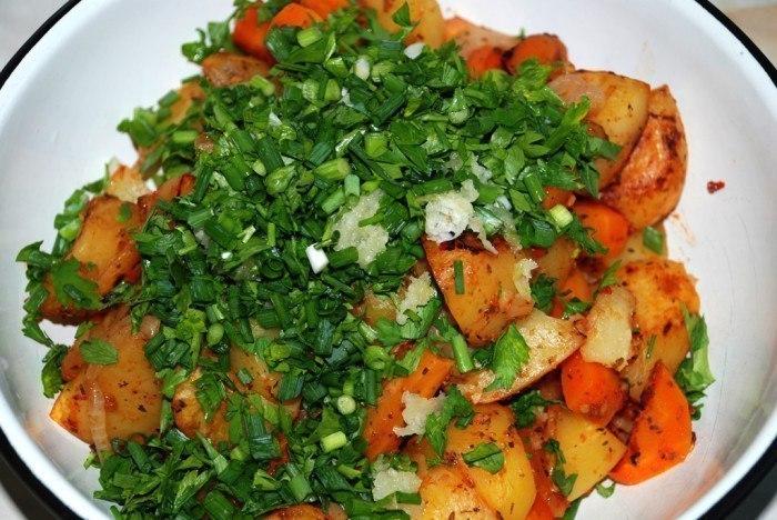 картошка в рукаве