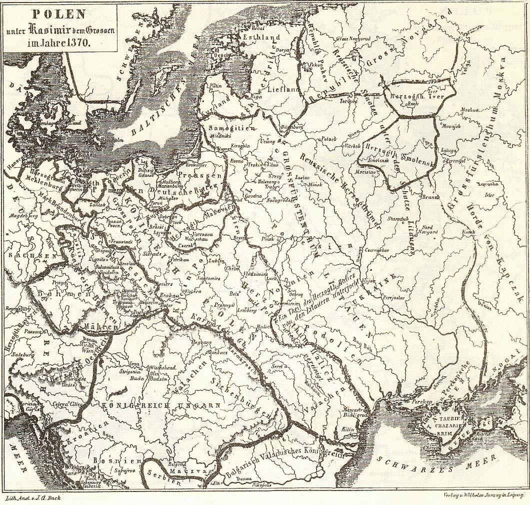 Мапа 1370 року Україна і Москва