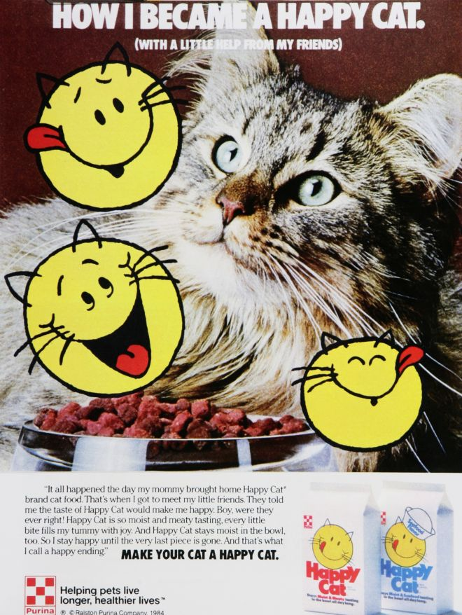 contest entry happy cat cat food 1980s vintage ads
