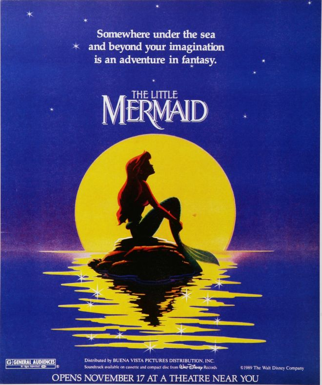 Weekend In Blue Little Mermaid Poster Ad 1989 Vintage Ads