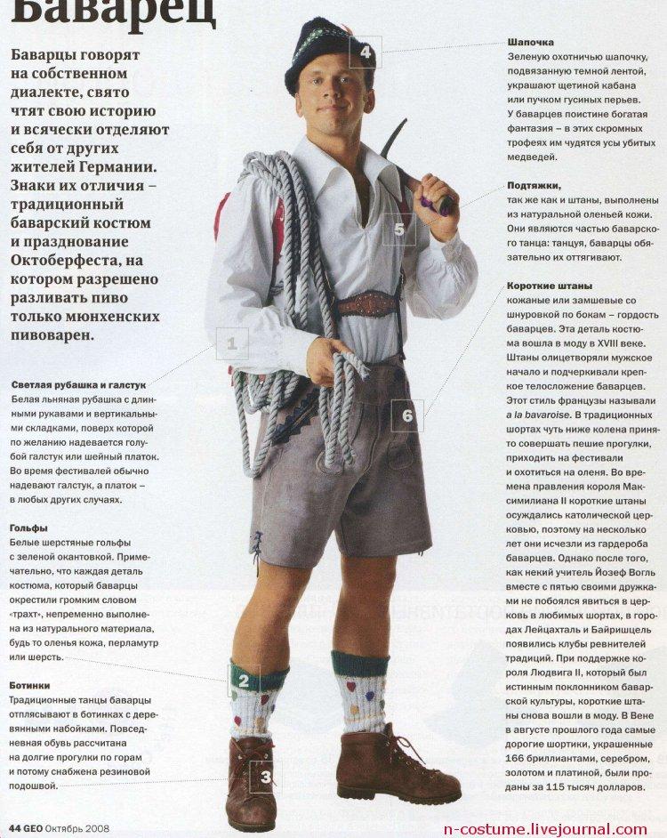 Традиционный баварский мужской костюм