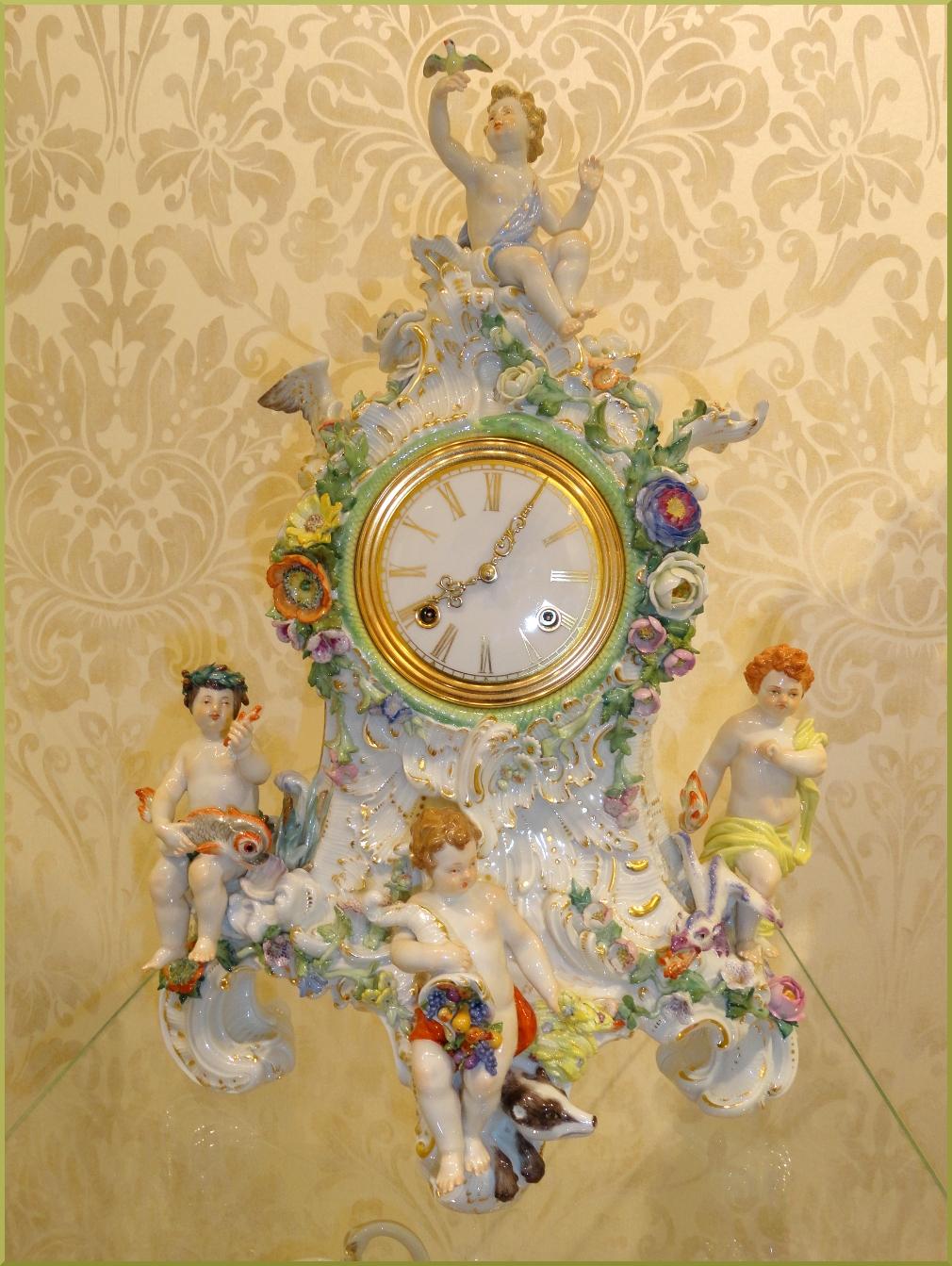 Часы Фарфор. Мейсен