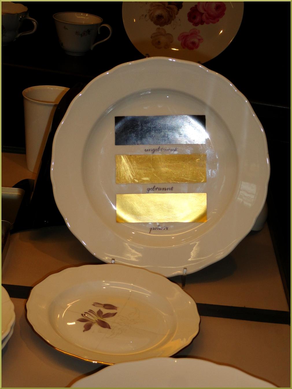 нанесение золотого  покрытия Фарфор Мейсен