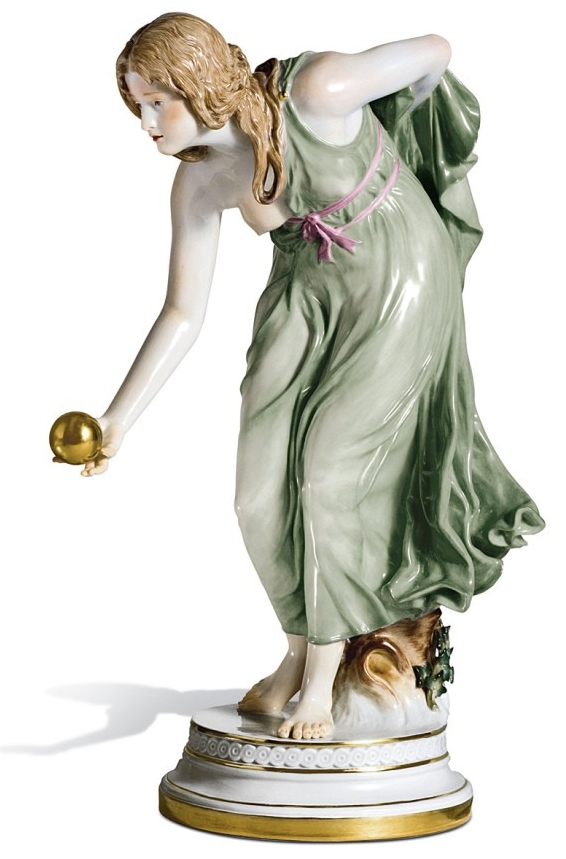 Мейсен Фарфор скульптура Игра в мяч
