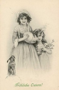 1 Munk - Ostern postkarten 1908