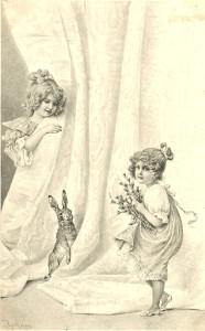 4 пасхальные открытки ретро