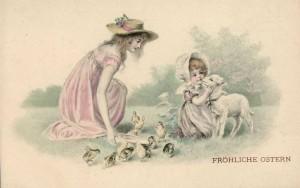 1c1 Munk Vienne! Ostern пасхальные открытки 1900