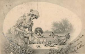 Munk - sign R.R. v. Wichera - Hühner und Küken