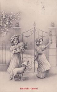 1913 1912 Postkarte Glückwunsch Ostern,