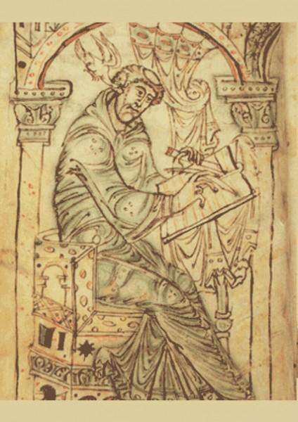 Beda Venerabilis in einem mittelalterlichen Manuskript