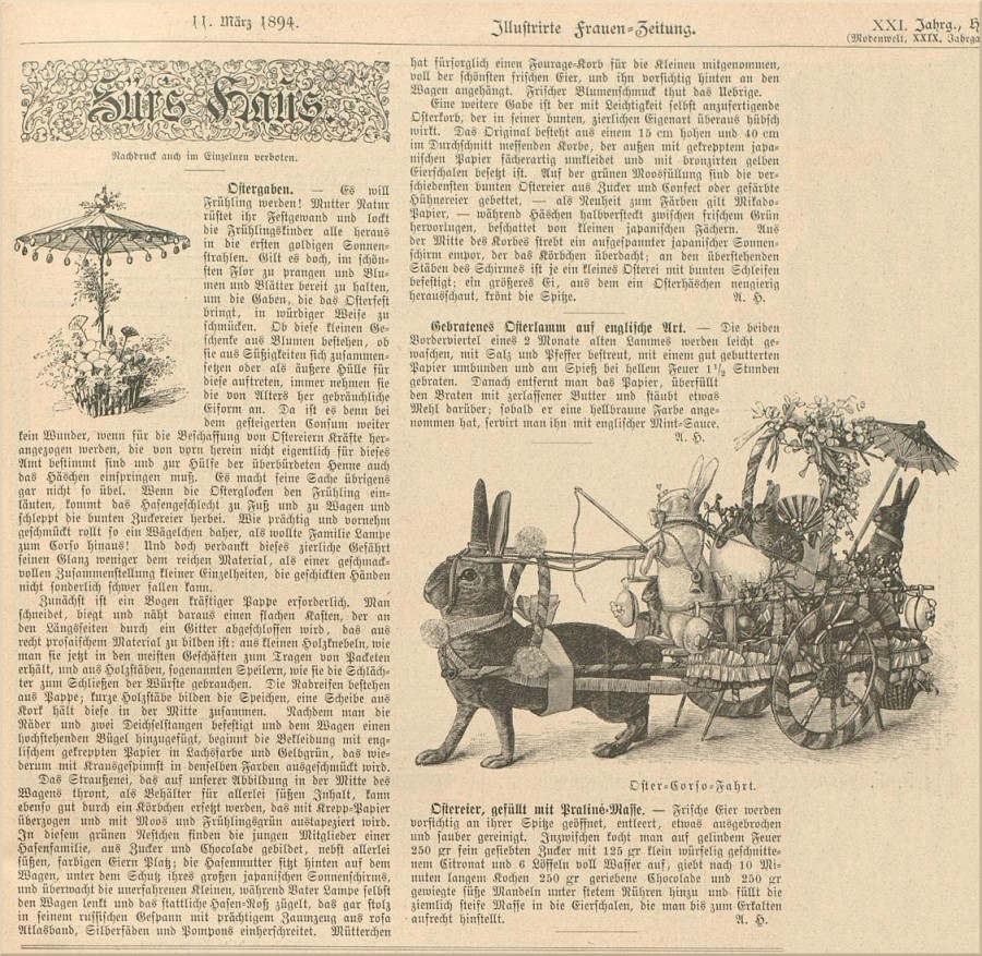 Ostern Frauen-Zeitung 1894