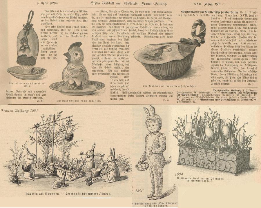 Ostern Frauen-Zeitung 1895 -пасхальные украшения