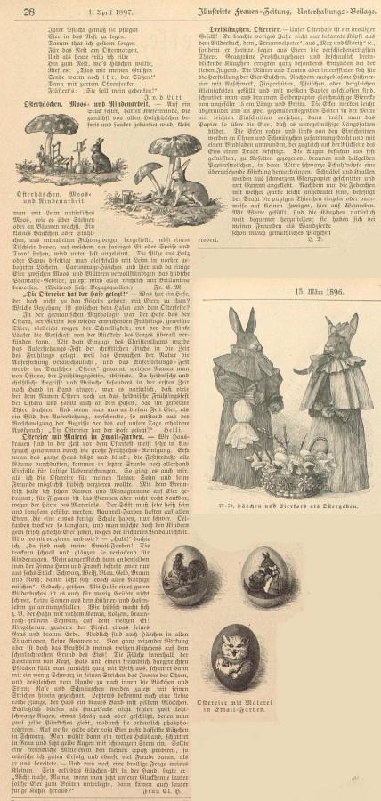 Пасха Германия История Frauen-Zeitung 1897 1896
