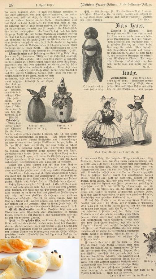 Ostermännchen Frauen-Zeitung 1898