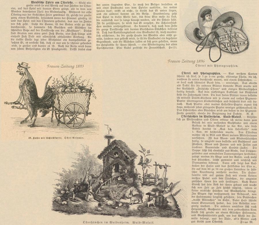 Ostern Frauen-Zeitung  1896 1893 Пасхальные украшения