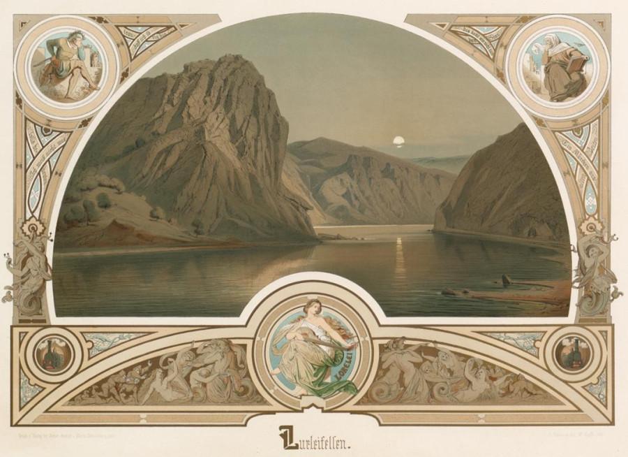 1 Illustration Lurleifelsen. C. Scheuren. fec. W. Krafft 1880 83