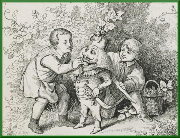 Щелкунчик Der neue Kinderfreund Deutscher Kinderschatz 1846 Illustration von L. Richter