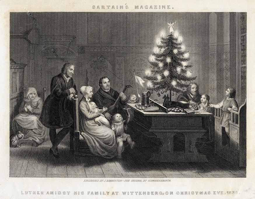 MARTIN LUTHER Der Stahlstich von Carl August Schwerdgeburth, entstanden 1843