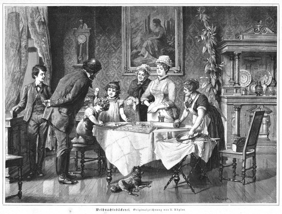 WEIHNACHTSBÄCKEREI TEIG KÖCHIN 1881