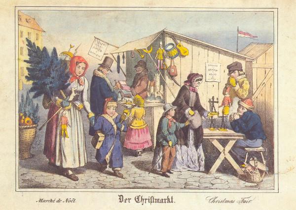 Christkindlesmarkt in Nürnberg im 19. Jahrhundert
