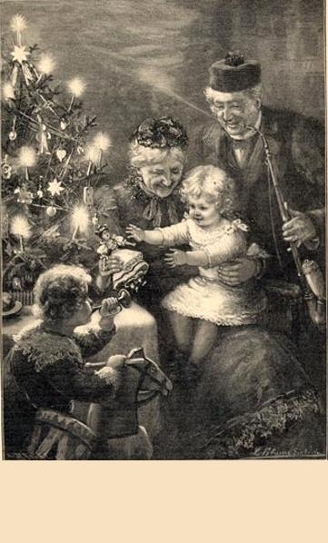 Bescherung bei den Grosseltern von L. Blume-Siebert  1901
