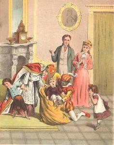 St. Nicholas with rude children, 1885