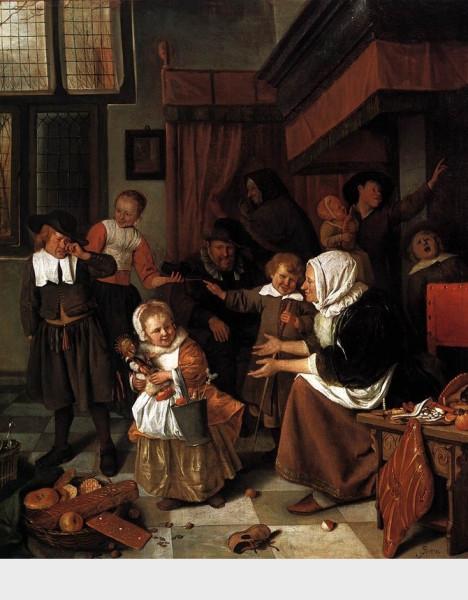 Feast of St. Nicholas 1665-68 by Jan Steen