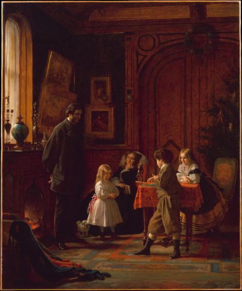 (1868). Eastman Johnson, Christmas Time -