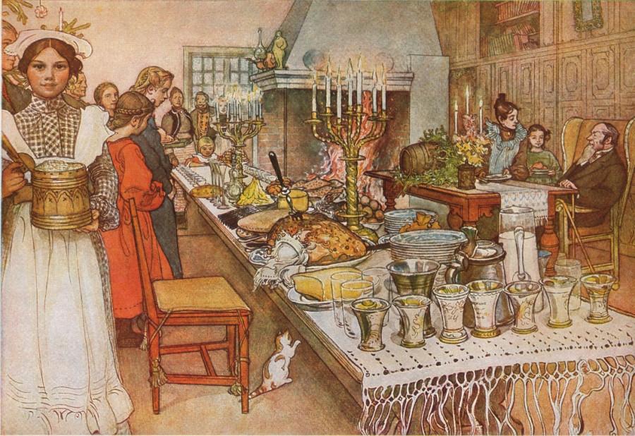 Carl Larsson: Weihnachtsabend 1904