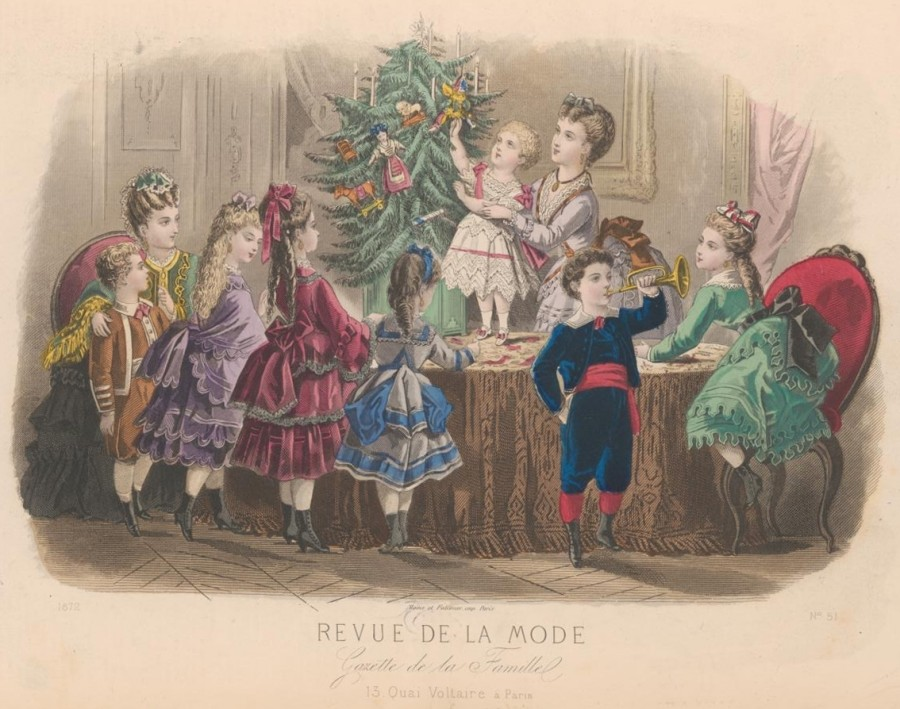 Ёлка 1872 год.Revue de la mode