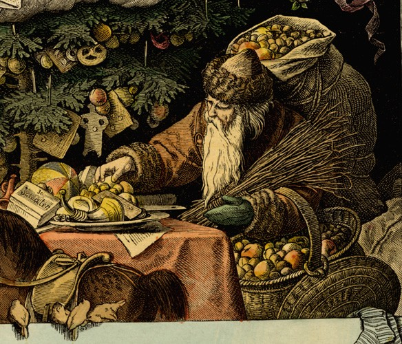 Weihnachtsmann (1877)Münchener Bilderbogen von Andreas Müller by Goethezeitportal