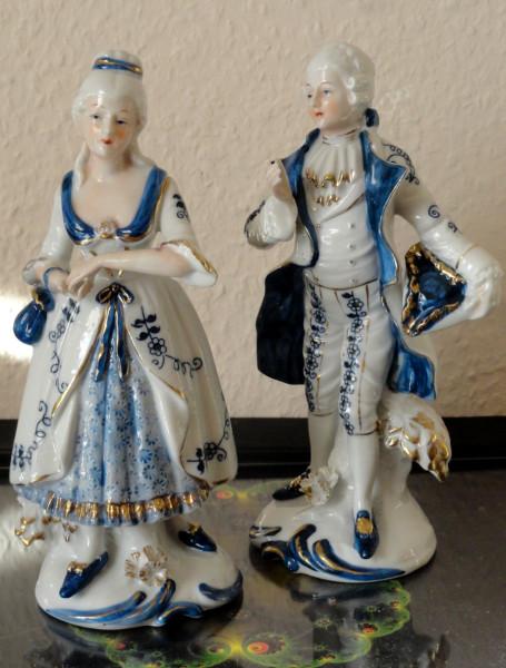 фарфоровые статуэтки дама и кавалер