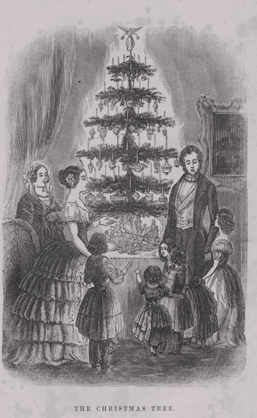 The Christmas Tree from Godey's Lady's Book 1850s