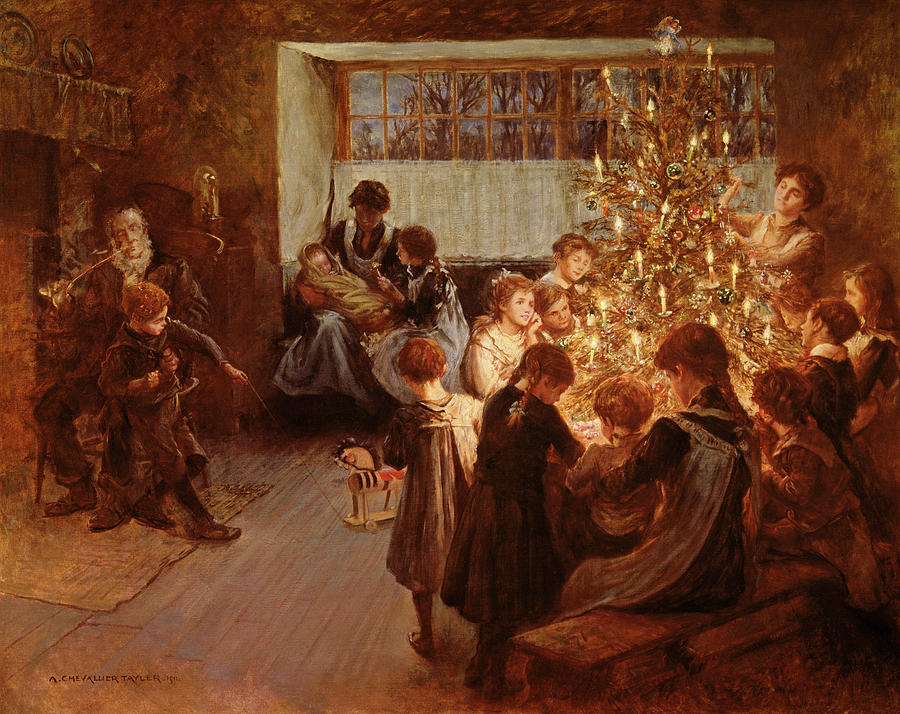 Albert Chevallier Tayler The Christmas Tree, 1911